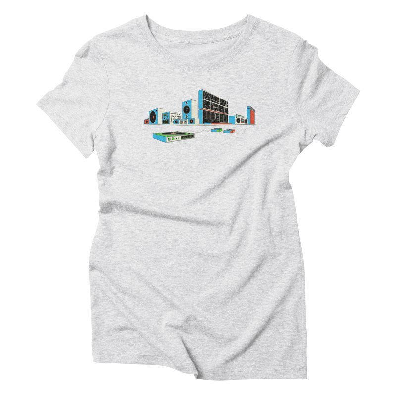 Boombox City Women's Triblend T-Shirt by velcrowolf