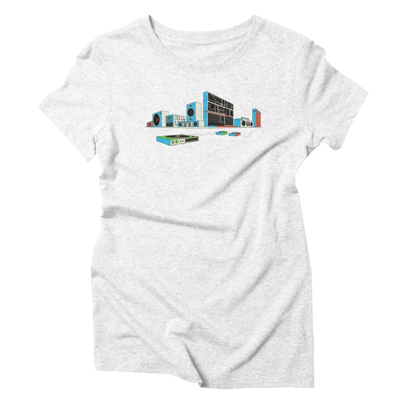 Boombox City Women's Triblend T-shirt by velcrowolf