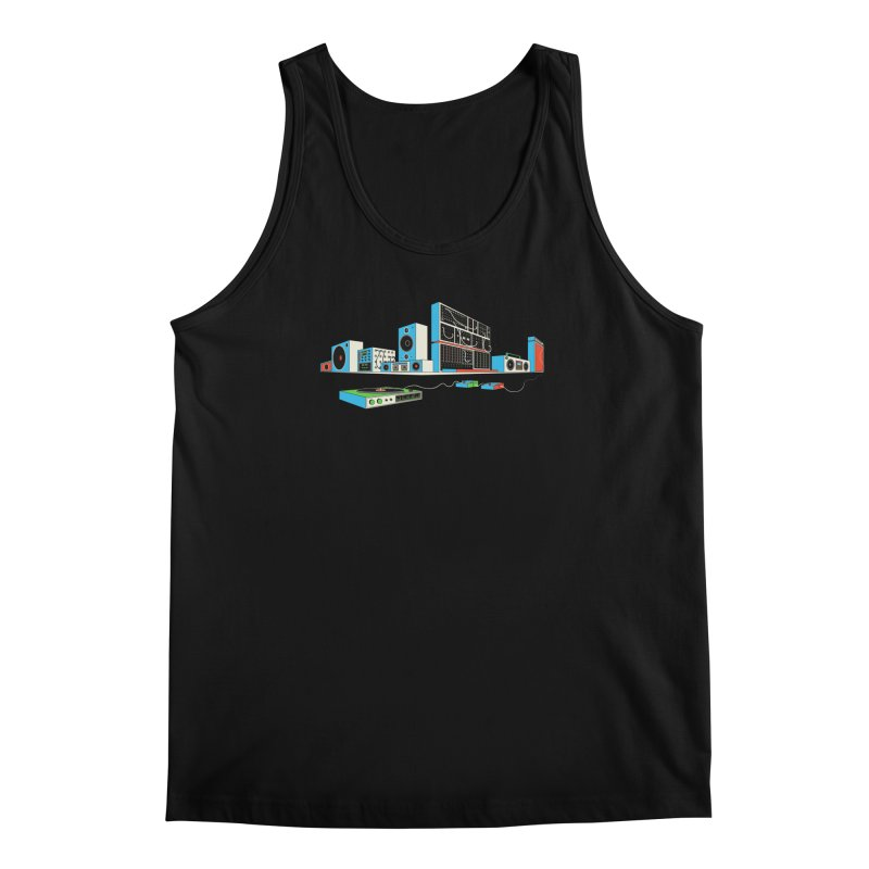 Boombox City Men's Tank by velcrowolf