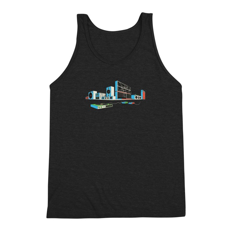 Boombox City Men's Triblend Tank by velcrowolf