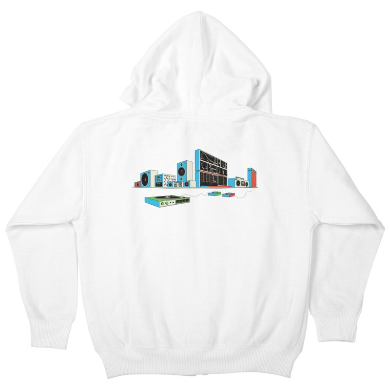 Boombox City Kids Zip-Up Hoody by velcrowolf