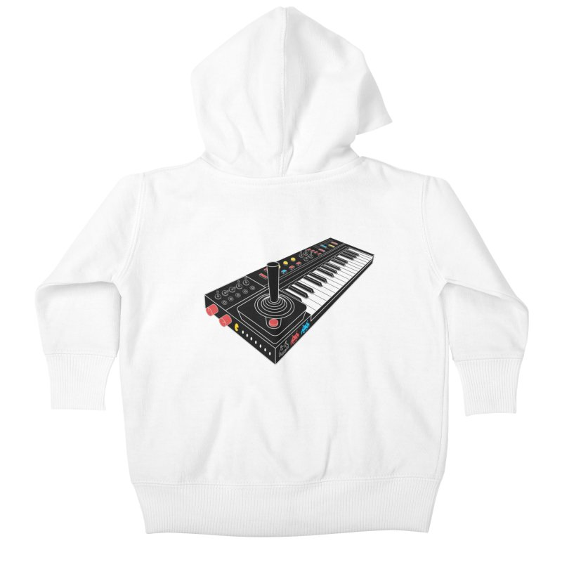 Casiotone Atari Kids Baby Zip-Up Hoody by velcrowolf