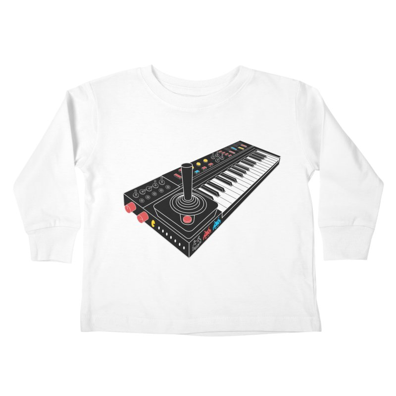 Casiotone Atari Kids Toddler Longsleeve T-Shirt by velcrowolf