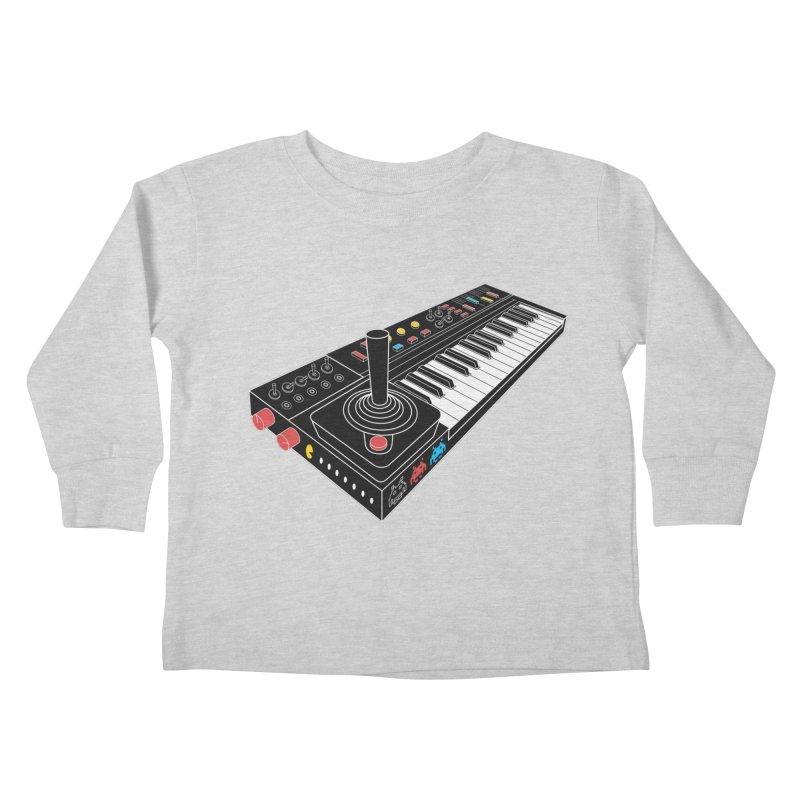 Casiotone Atari Kids Toddler Longsleeve T-Shirt by velcrowolf