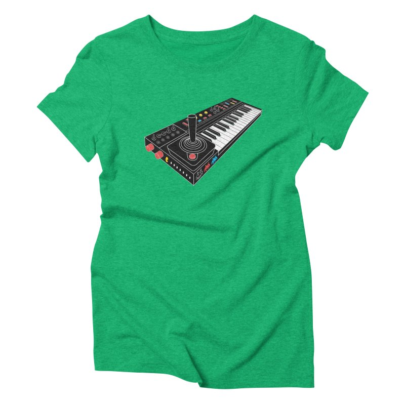 Casiotone Atari Women's Triblend T-shirt by velcrowolf