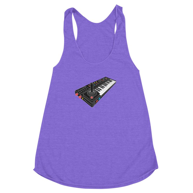 Casiotone Atari Women's Racerback Triblend Tank by velcrowolf
