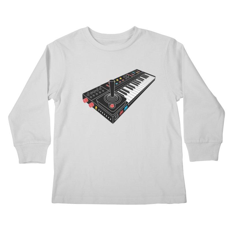 Casiotone Atari Kids Longsleeve T-Shirt by velcrowolf