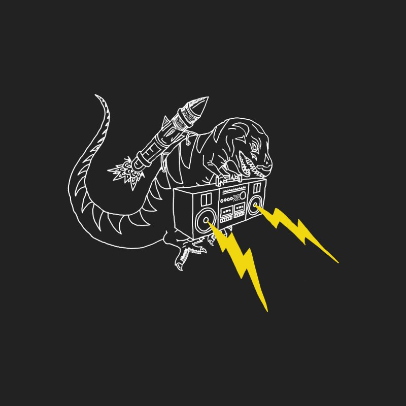 Tyrannosaurus with a Boombox Men's T-Shirt by velcrowolf