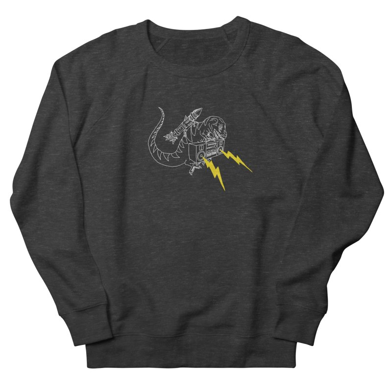 Tyrannosaurus with a Boombox Men's French Terry Sweatshirt by velcrowolf