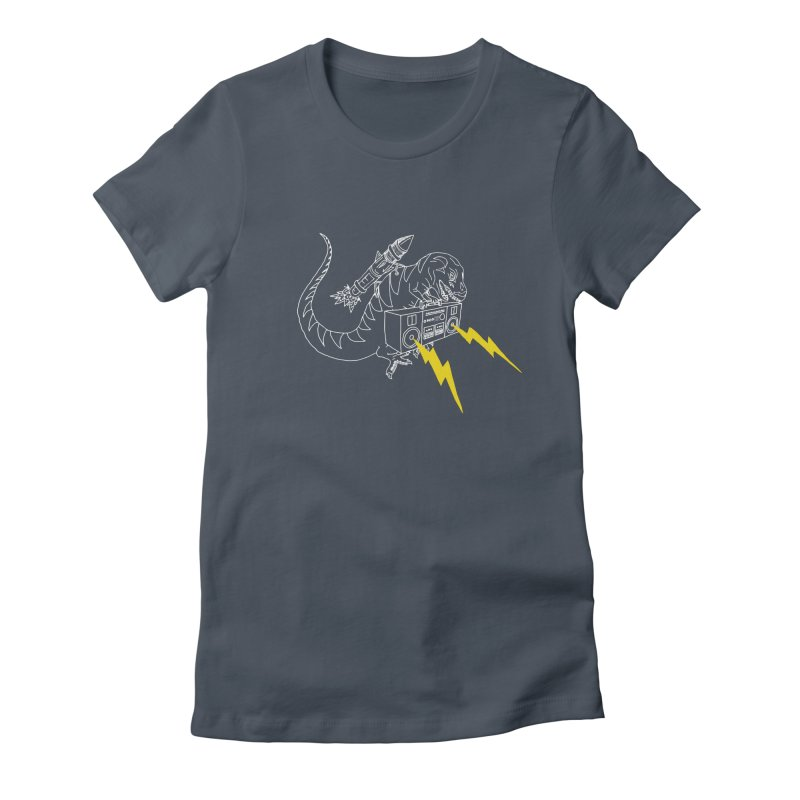 Tyrannosaurus with a Boombox Women's T-Shirt by velcrowolf