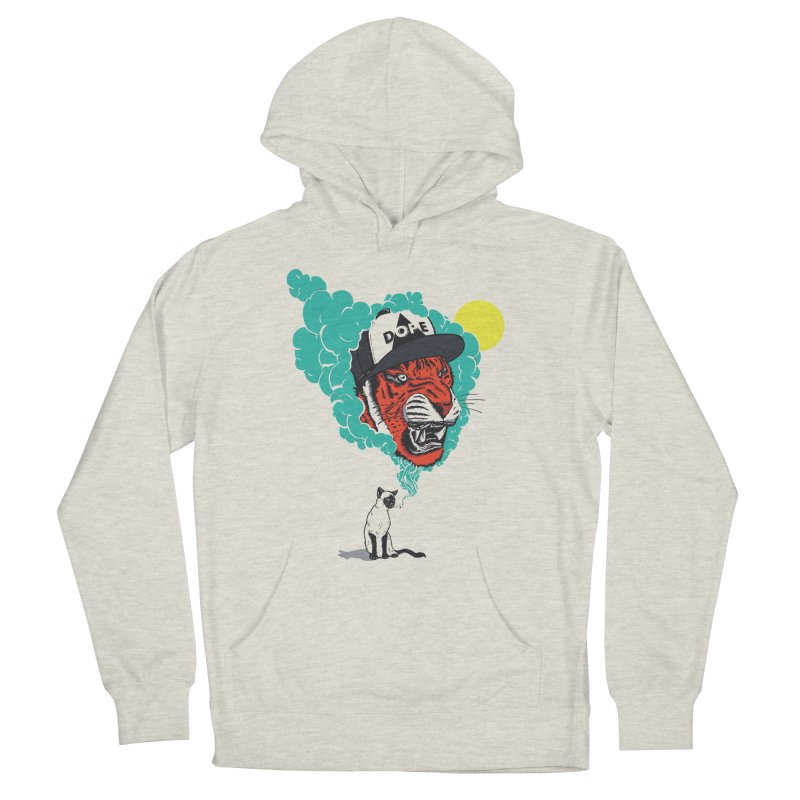Dope Tiger! Women's French Terry Pullover Hoody by velcrowolf