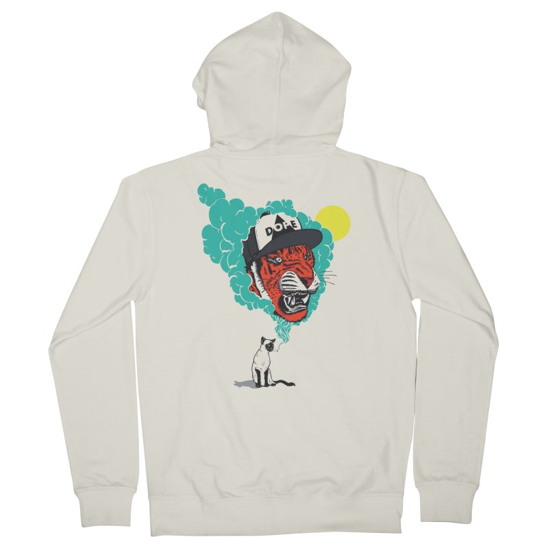 Dope Tiger! Men's French Terry Zip-Up Hoody by velcrowolf