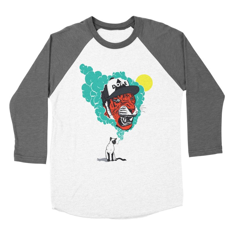 Dope Tiger! Women's Baseball Triblend Longsleeve T-Shirt by velcrowolf