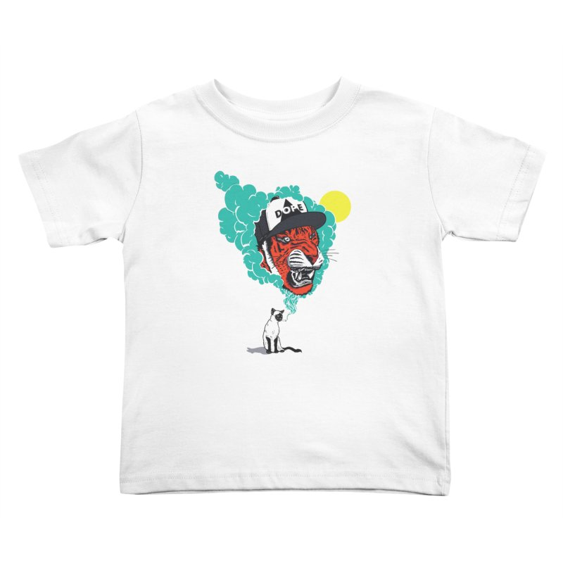 Dope Tiger! Kids Toddler T-Shirt by velcrowolf