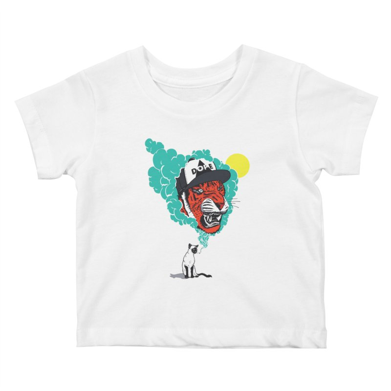 Dope Tiger! Kids Baby T-Shirt by velcrowolf