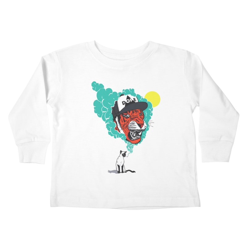 Dope Tiger! Kids Toddler Longsleeve T-Shirt by velcrowolf