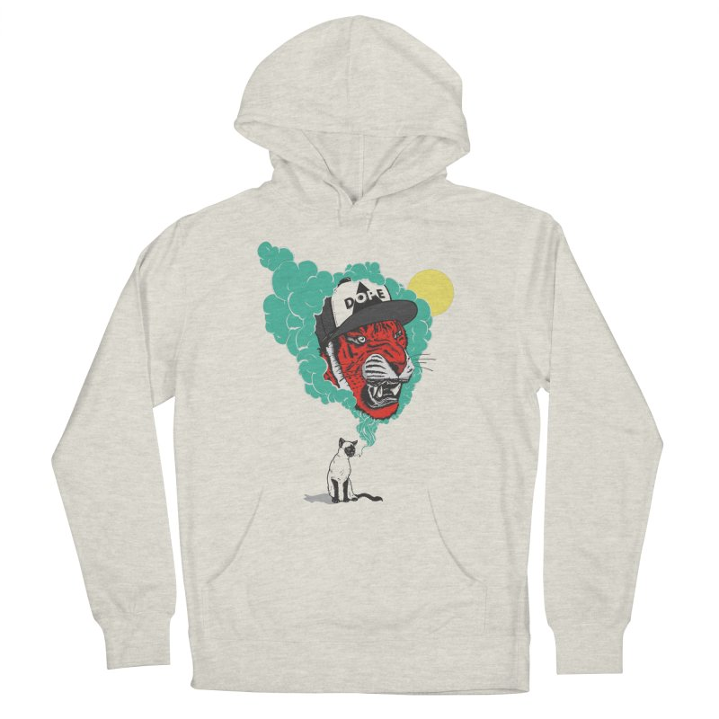 Dope Tiger! Men's French Terry Pullover Hoody by velcrowolf