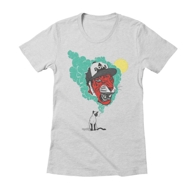 Dope Tiger! Women's Fitted T-Shirt by velcrowolf
