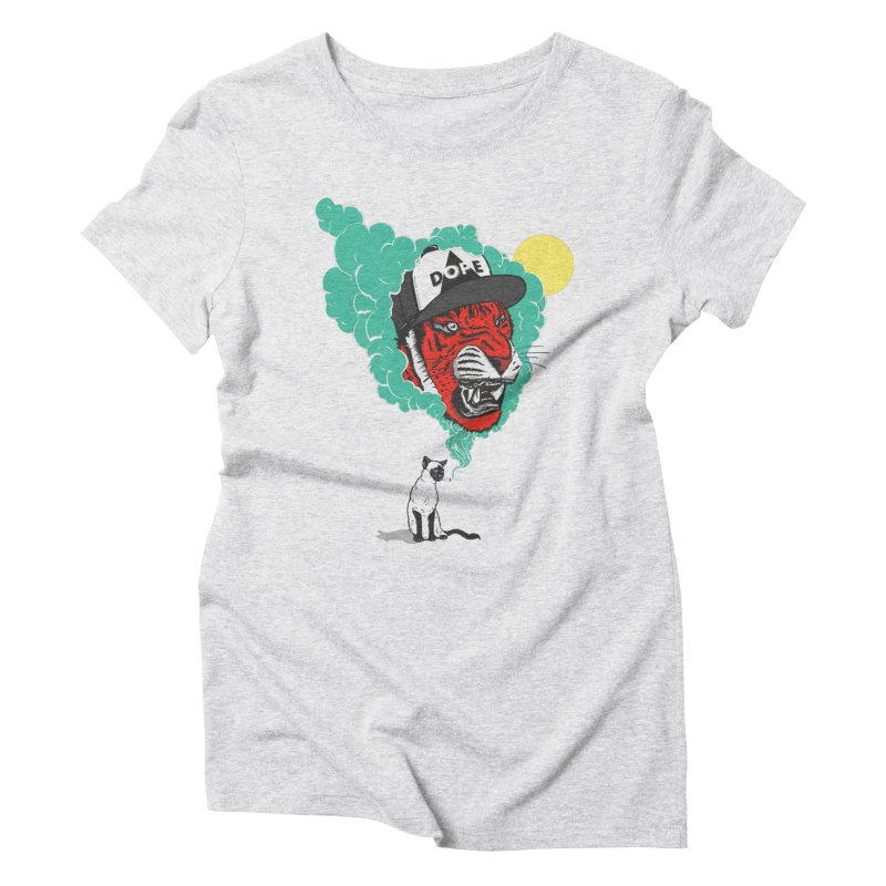 Dope Tiger! Women's Triblend T-shirt by velcrowolf