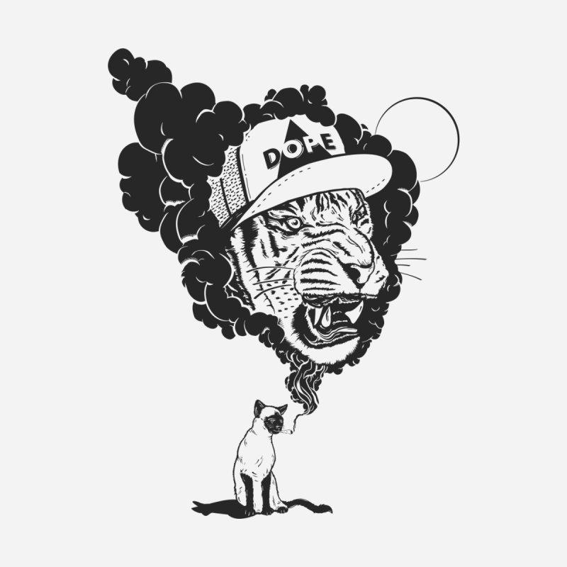 Dope Tiger! (Light) Men's T-Shirt by velcrowolf