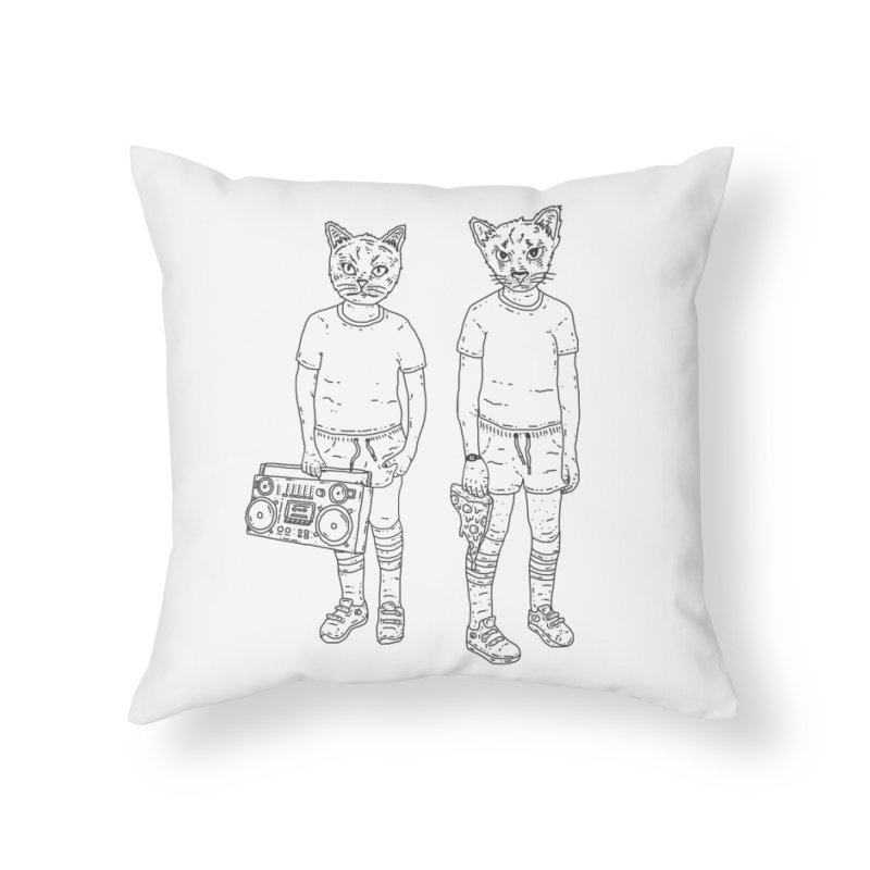 pizza lazers Home Throw Pillow by velcrowolf