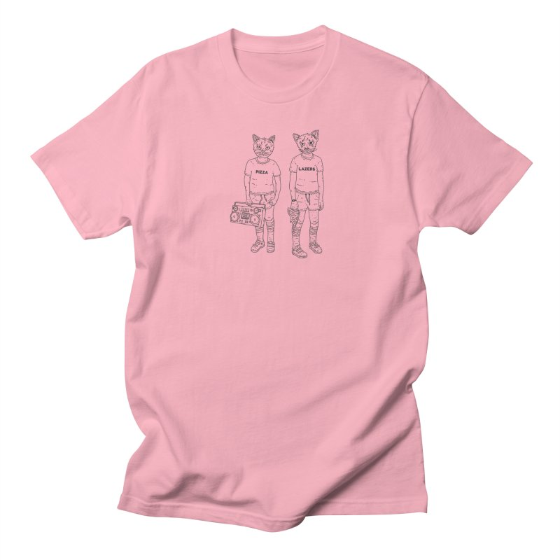 pizza lazers Men's Regular T-Shirt by velcrowolf