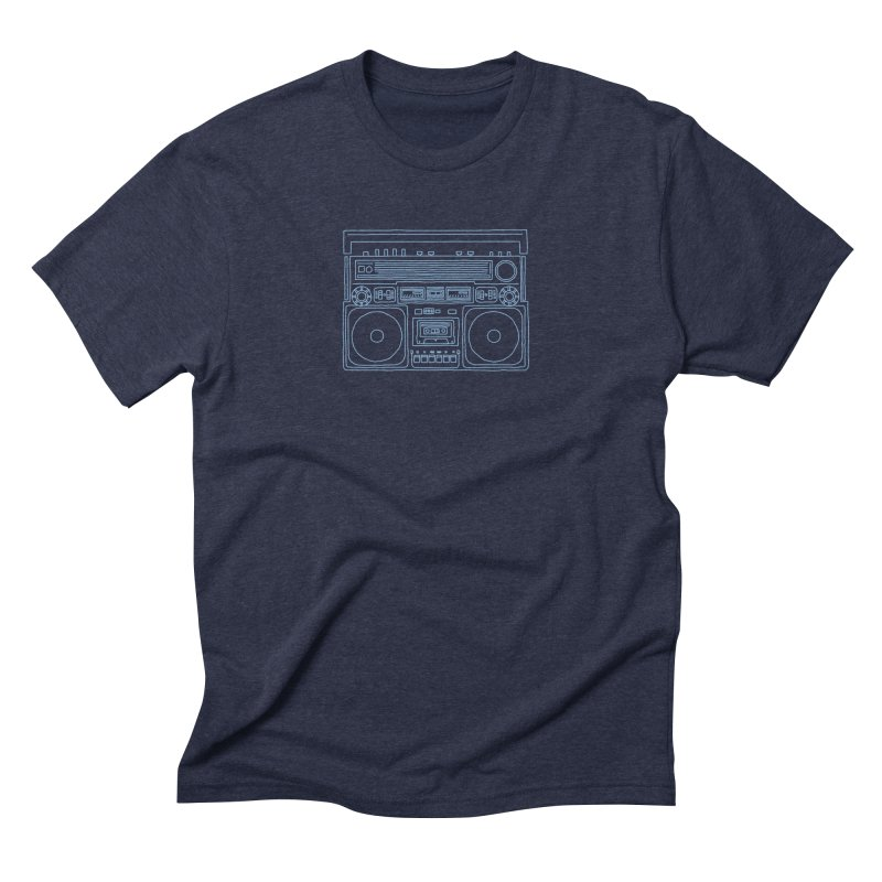 tron ghettoblaster Men's Triblend T-shirt by velcrowolf