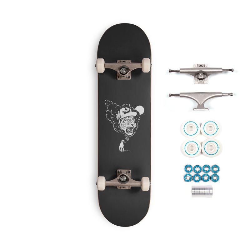Dope Tiger! (Dark) Accessories Skateboard by velcrowolf