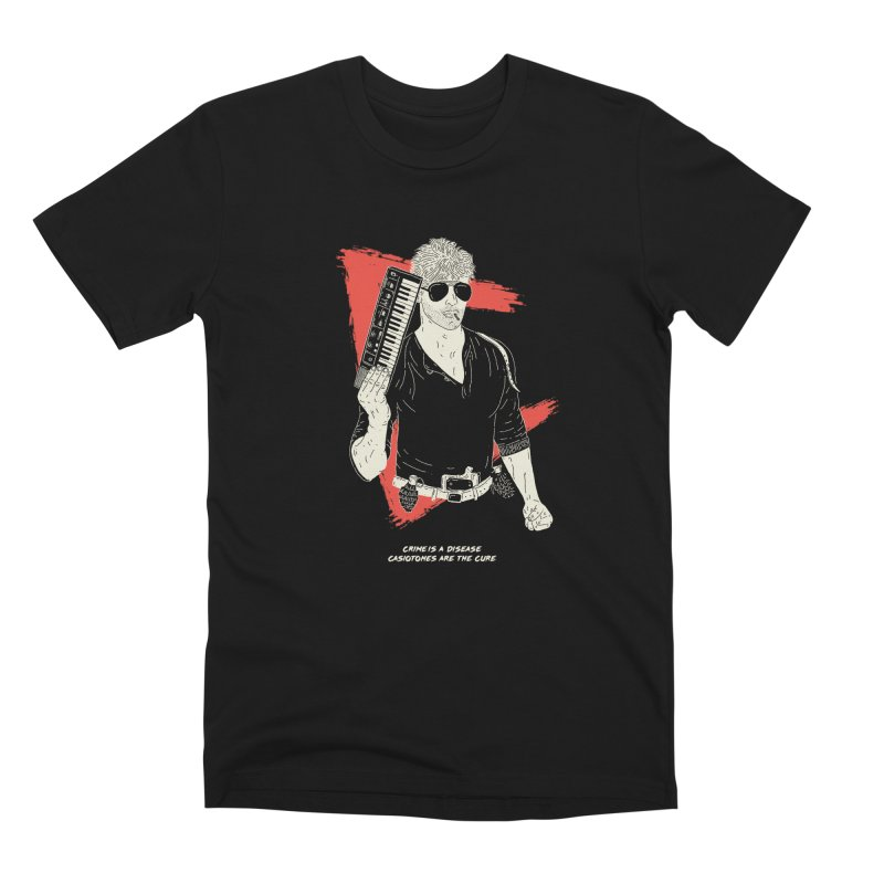 Crime is a Disease, Casiotones are the Cure Men's T-Shirt by velcrowolf