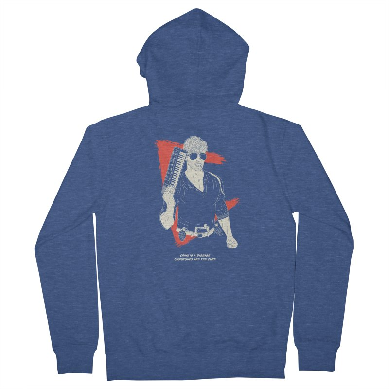 Crime is a Disease, Casiotones are the Cure Men's Zip-Up Hoody by velcrowolf