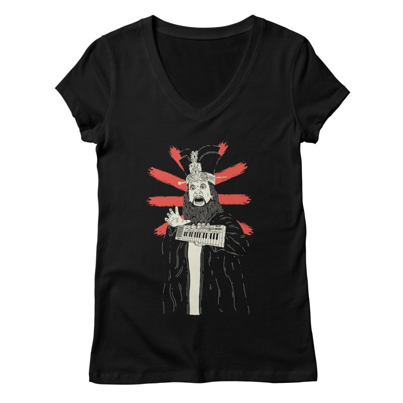 Big Trouble in Little Casiotone Women's V-Neck by velcrowolf