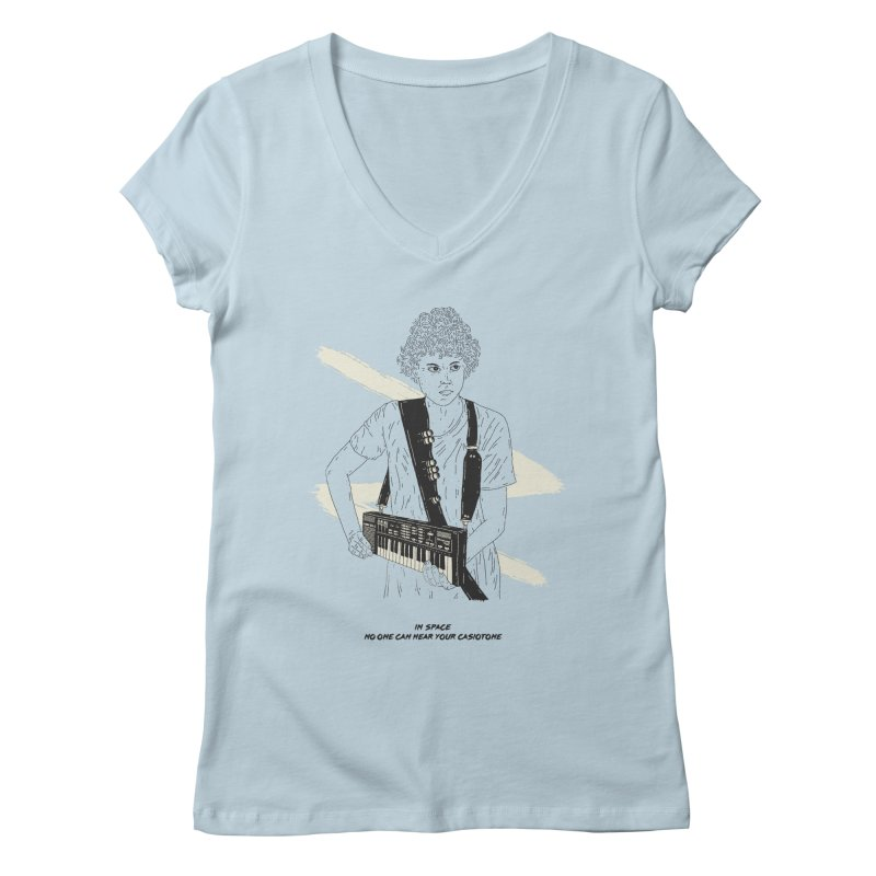Ripley loves to play her Casiotone in the privacy of space Women's V-Neck by velcrowolf