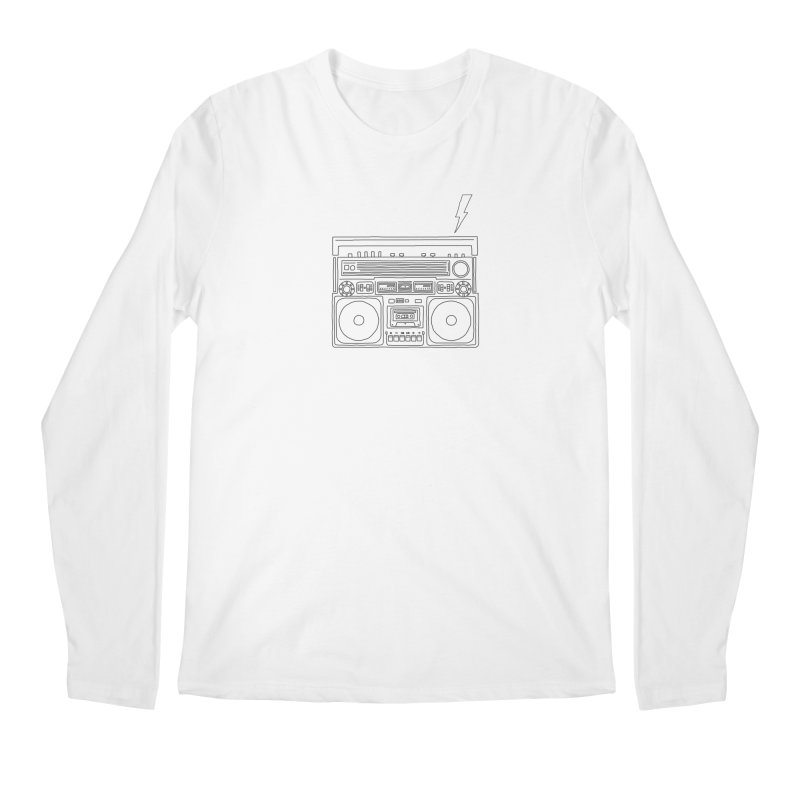 ghettoblaster Men's Longsleeve T-Shirt by velcrowolf