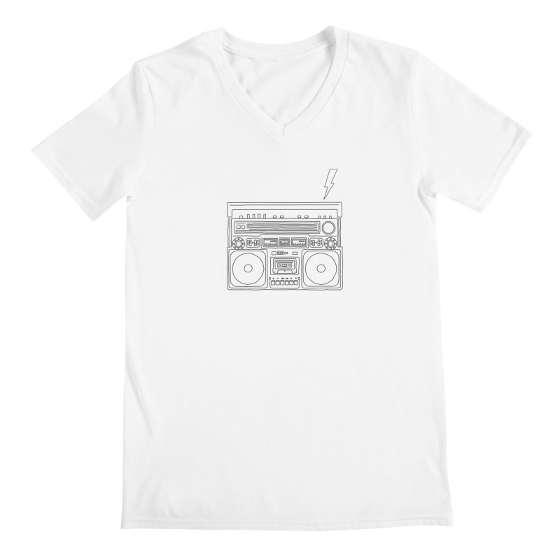 ghettoblaster Men's V-Neck by velcrowolf