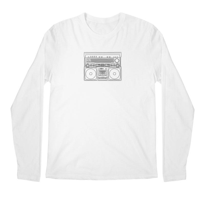 ghettoblaster Men's Longsleeve T-Shirt by velcrowolf
