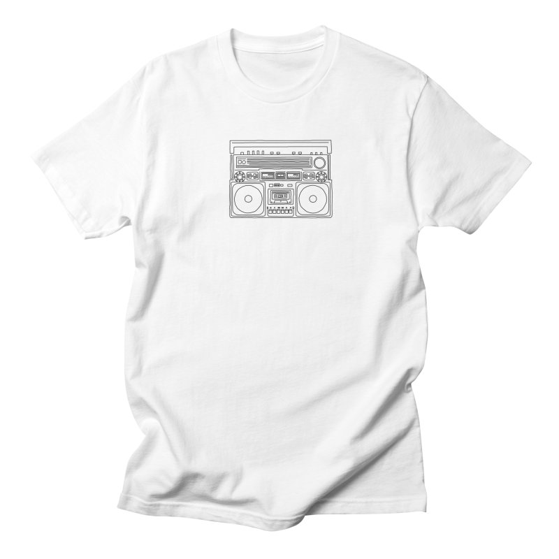 ghettoblaster Men's T-Shirt by velcrowolf