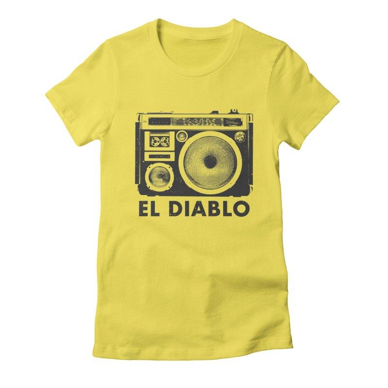 El Diablo Boombox Women's T-Shirt by velcrowolf