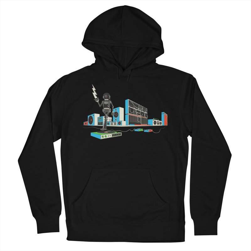 Boombox City with Robot! Women's Pullover Hoody by velcrowolf