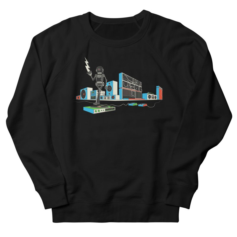 Boombox City with Robot! Women's Sweatshirt by velcrowolf