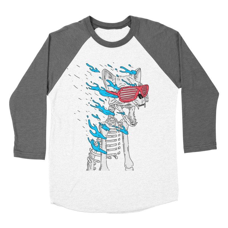 Face Melted Cat Women's Baseball Triblend T-Shirt by velcrowolf