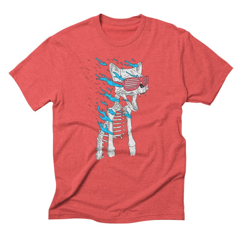 Face Melted Cat Men's T-Shirt by velcrowolf