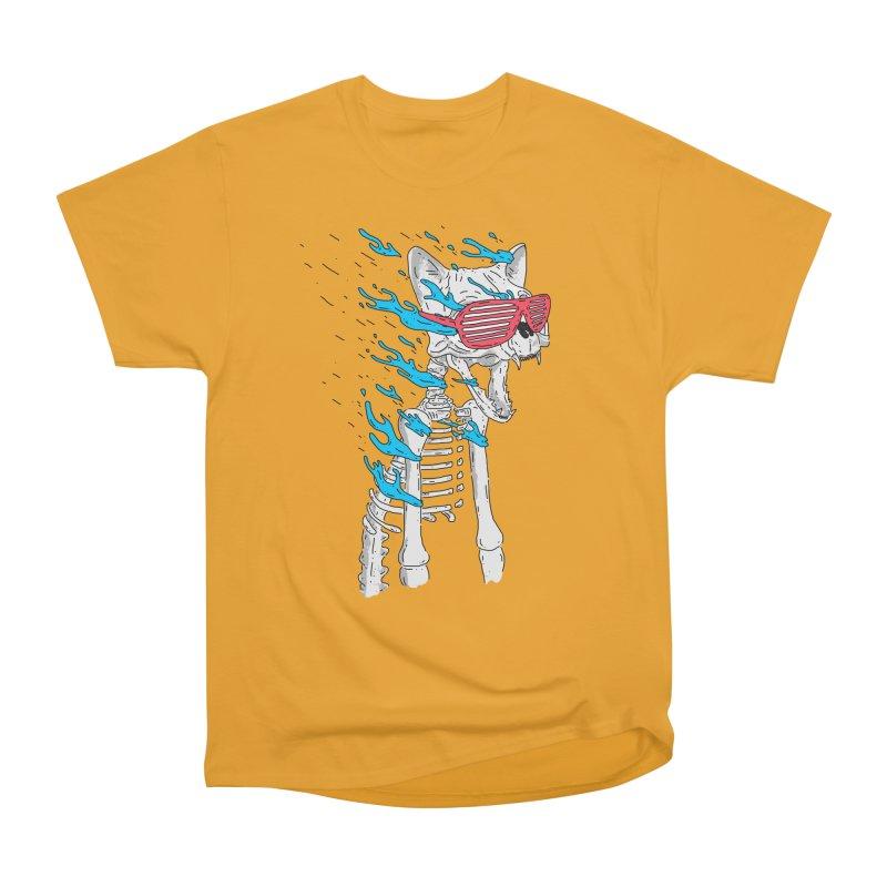 Face Melted Cat Men's Heavyweight T-Shirt by velcrowolf