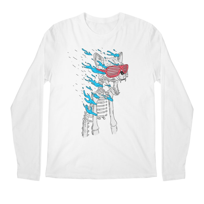 Face Melted Cat Men's Regular Longsleeve T-Shirt by velcrowolf