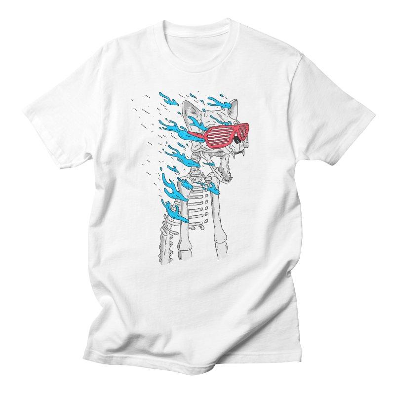 Face Melted Cat Men's Regular T-Shirt by velcrowolf