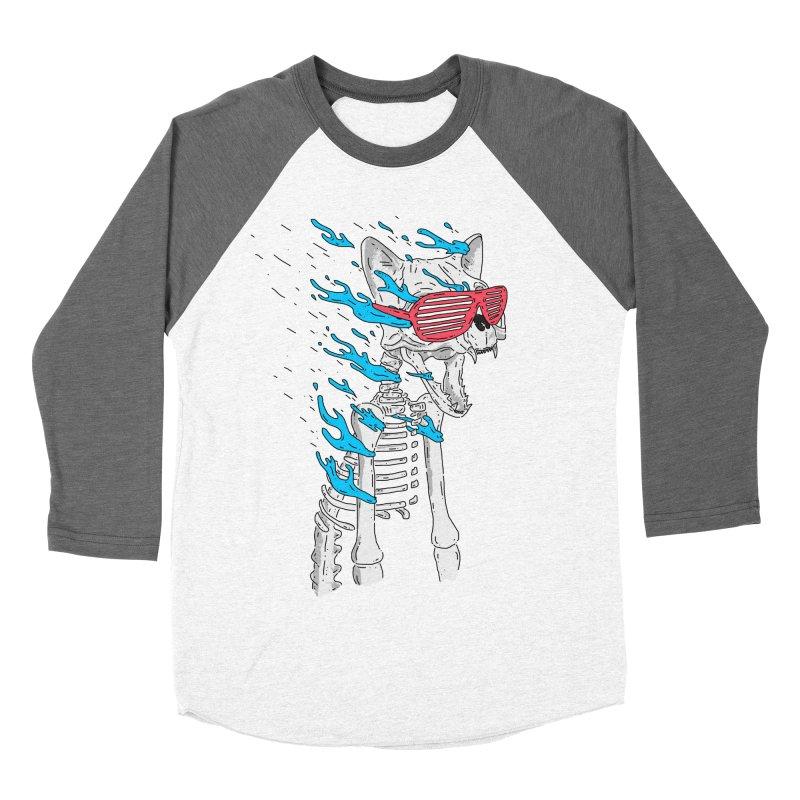 Face Melted Cat Women's Baseball Triblend Longsleeve T-Shirt by velcrowolf