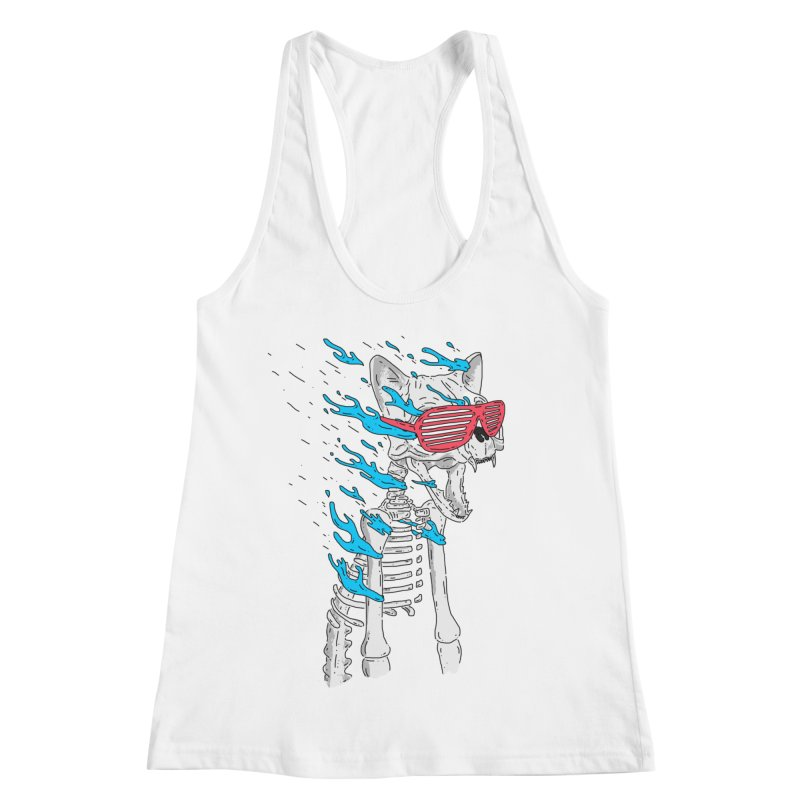 Face Melted Cat Women's Racerback Tank by velcrowolf