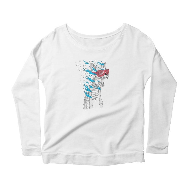 Face Melted Cat Women's Longsleeve T-Shirt by velcrowolf