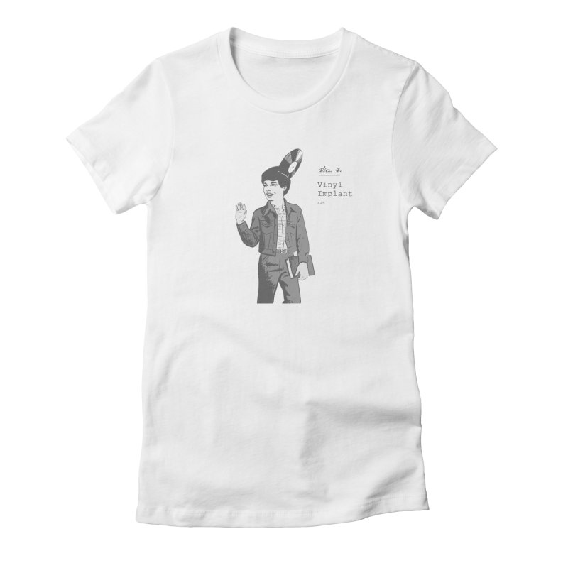 vinyl implant Women's Fitted T-Shirt by velcrowolf
