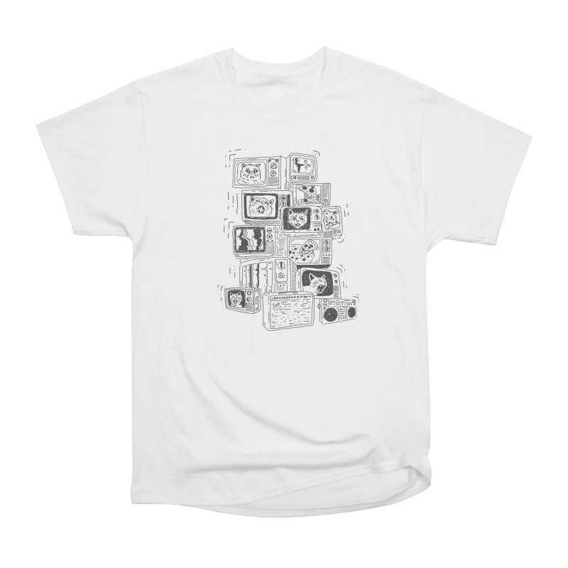 cats, pizza, tv's, boomboxes, amps Men's Classic T-Shirt by velcrowolf