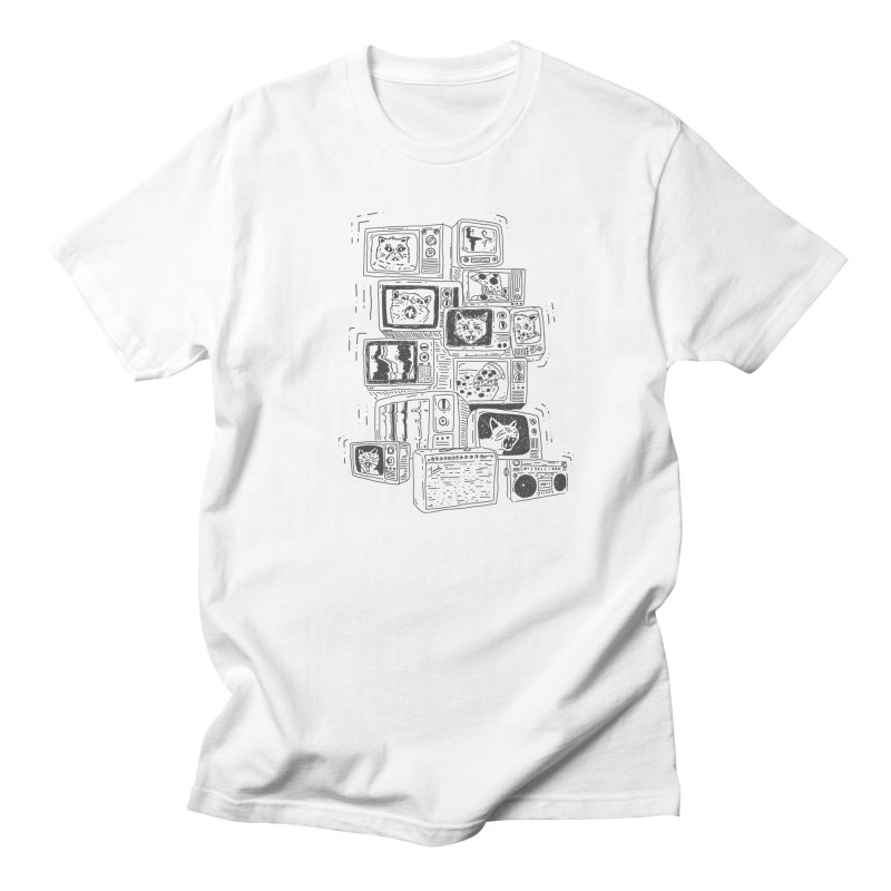 cats, pizza, tv's, boomboxes, amps Men's T-Shirt by velcrowolf
